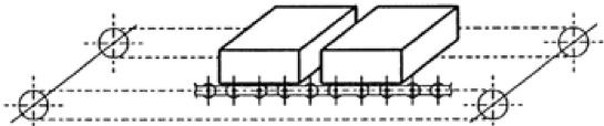 Figura 2.22 Tensión en un transportador horizontal